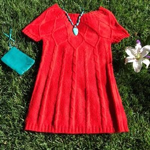🌺 Kensie Pretty; Coral S/S Sweater/Dress Sz. Sm!'